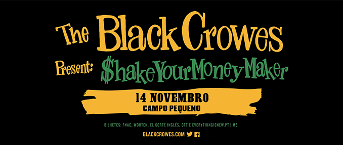 THE BLACK CROWES TRAZEM O PLATINADO SHAKE YOUR MONEY MAKER AO CAMPO PEQUENO